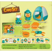 Boutique Playhouse plástico brinquedo-Camping Set com 7 acessórios