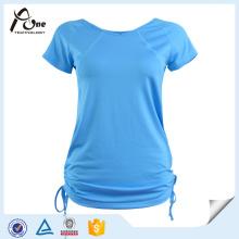 Мода Футболка Девушки Дышащие Йога одежда