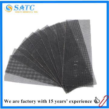 Venta caliente de buena calidad lijado abrasivo pantalla hoja de malla de fibra de vidrio