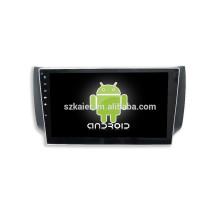 ¡DVD de coche CALIENTE con enlace espejo / DVR / TPMS / OBD2 para pantalla táctil completa de 10.1 pulgadas Sistema Android 4.4 SYLPHY