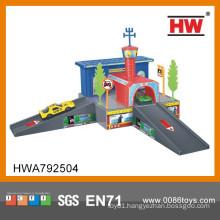 Top quality children indoor toys plastic super garage playset
