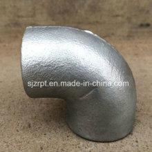 Conexões de tubulação de ferro maleável Plain Equal Galvanized Elbow