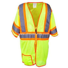 Two Tone Yellow Classic Mesh Safety Vest