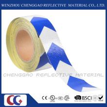 Industrial Reflective Arrow Design Hazard Warning Caution Sticker Rolls (C3500-AW)