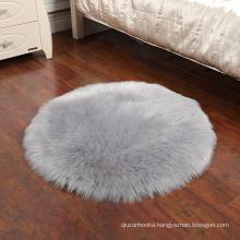 China factory wholesale Natural long wool 30cm 40cm 50cm 60cm 70cm 80cm 90cm 100cm 120cm 150cm round carpet rugs