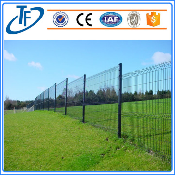High security square post welded wire mesh fence