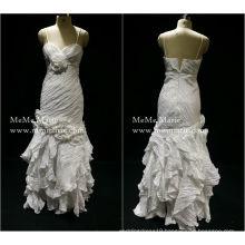 2017 Taffeta Sweetheart Spaghetti Strap Layered Evening Dress Prom Gown with Pleats BYE-14058