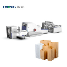 High speed Recycled square bottom paper bag making machine price, fully automatic shopping kraft paper bag machine cost