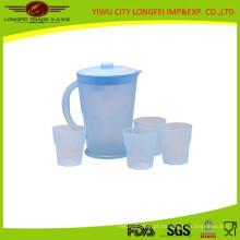 Conjunto de jarro de água de plástico colorido doce