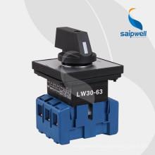 Saip Saipwell Hot Sale commutateur étanche / commutateur rotatif électrique série LW30