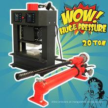 Compressor de ar hidráulico de 20 toneladas, placas de aquecimento manual gratuitas, máquina de pressão de colofónia