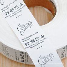 Garment label  thermal transfer printed  nylon taffeta  wash  ribbon