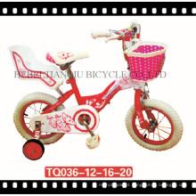 Bicicleta da menina / ciclo do bebê / bicicleta das crianças com a cesta para o mercado americano