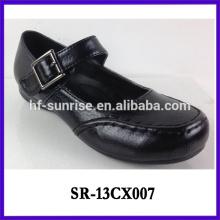 Los zapatos de la escuela de las muchachas la escuela de cuero de 2013 muchachas calza los zapatos de la escuela de los adolescentes