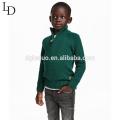 Novo design de roupas para crianças criança verde pulôver alto pescoço menino camisola