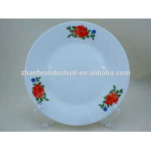 cheap ceramic beautiful decal meat plate