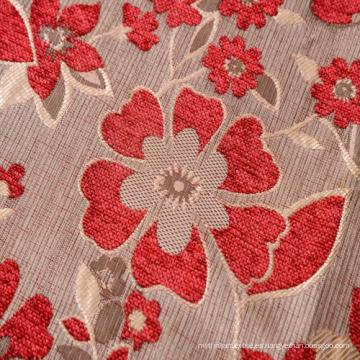 Tela de Chenille rojo tinte de hilado para el sofá en Base especial