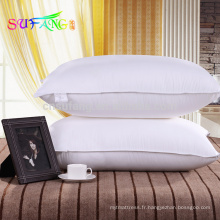Oreiller d'hôtel / oreiller de fibre de polyester d'hôtel pour l'oreiller d'hôtel d'étoile
