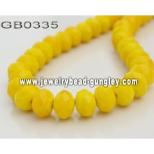 opaque roundel glass bead-golden yellow