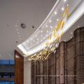 Hotel Chandelier Crystal Длинный прямоугольный подвесной светильник