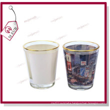 1.5oz Sublimation Custom Printed Wine Glass with Golden Rim