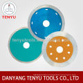 Continuous diamond saw blade for granite