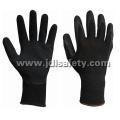 Guante de trabajo de nylon de la capa del látex para la seguridad en el trabajo (LY3015)