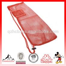 saco de malha esteira de ioga com bolso e alça HCY0015