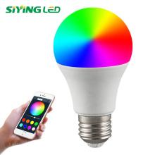 LED Smart light Bulb 16 million colors mesh  RGB bulb E27/B22 base led light smart led bulb