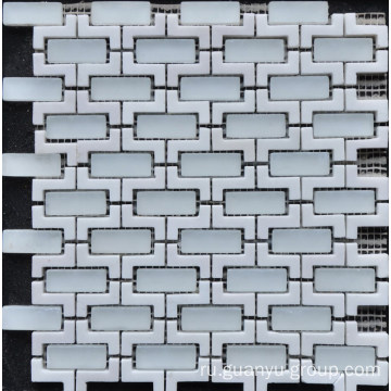 Marble Mix Glass Mosaic Tile