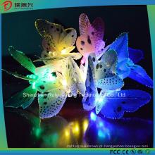 Luz solar da corda da borboleta 12LED