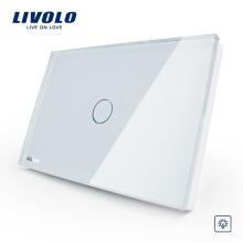 США / AU стандарт Livolo сделал пожаробезопасный пульт дистанционного управления высокое качество мода белый хрусталь настенный выключатель VL-C301R-81