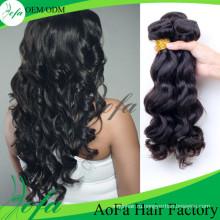 7А класс 22-дюймовый Оптовая объемная волна человеческих волос девственницы Remy