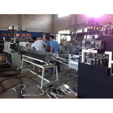 Línea de producción de bandas de borde de PVC One one of Four Streams