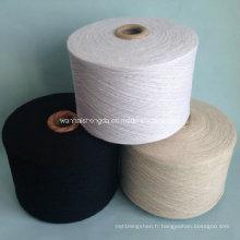 Filé à l'anneau de polyester pour le tricotage et le tissage