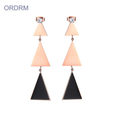 Elegant geometric drop drop anting-anting
