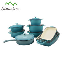 Die Cast Casserole Cooking Pots Cast Iron Cookware