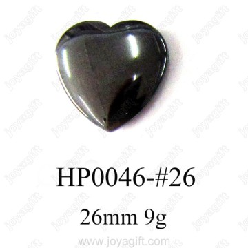 Hematite Heart Pendant 26MM