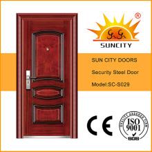 Heat Transfer Steel Security Door, High Quality Steel Door (SC-S029)