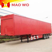 Полуприцеп с кузовом-фургоном для тяжелых условий эксплуатации 60 тонн