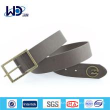 Basic Style Single Pin Buckles Men Wide Belts