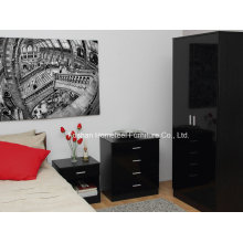 Ottawa 3 Piece Bedroom High Gloss Wardrobe Dresser Set