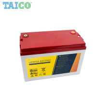 Customized Size Deep cycle Rechargeable Lifepo4 12.8V 100AH 150AH Llithium ion Battery with BMS