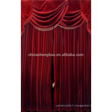 Chine, fournisseur, rouge, velours, noir, scène, fond, rideaux