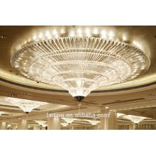 Cono vortex iluminación de araña de vestíbulo de lujo