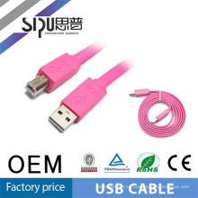 Promoción de ventas! Cable de SIPUO colorido 2,0 usb datos cable plano con buen funcionamiento 30cm 1m 3m 5m