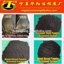 Base en charbon de charbon actif de poudre en vrac adsorbante pour le traitement de l'eau
