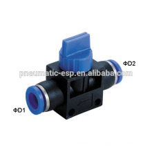 Popular pneumatic fittings hand valves with Various model HVFF
