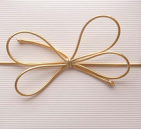 Stretch Loop Elastic Bow for Gift Box Packaging