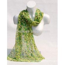 Fashion women 100 cotton floral scarf